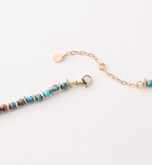 Turquoise Beaded Choker Necklace, Give freedom & create careers for exploited girls & women! - Give Back Goods