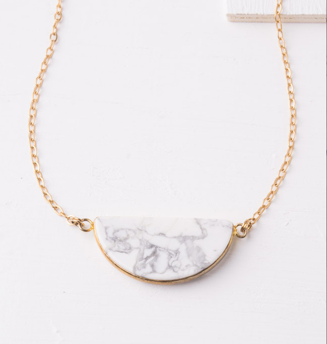 White & Grey Tophus Pendant Necklace, Give freedom & careers for exploited girls & women! - Give Back Goods