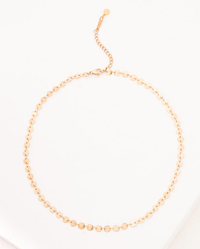 Gold Sequin Necklace, Give freedom & create careers for exploited women! - Give Back Goods