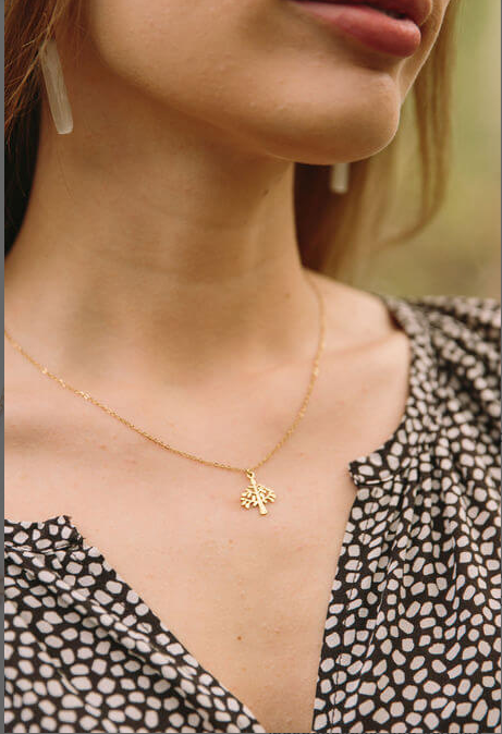 Gold Tree Necklace, Give freedom to girls & women!