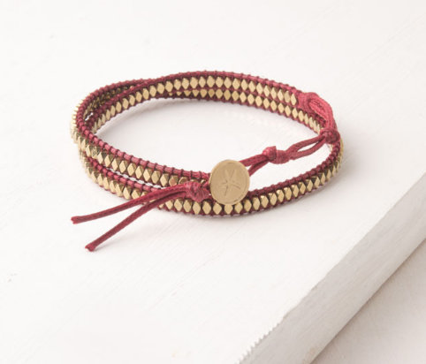 Red Starfish Wrap Bracelet, Give freedom to exploited girls & women!