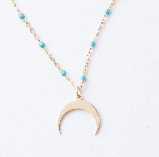 Crescent Moon Pendant Necklace, Give freedom & create careers for exploited women!