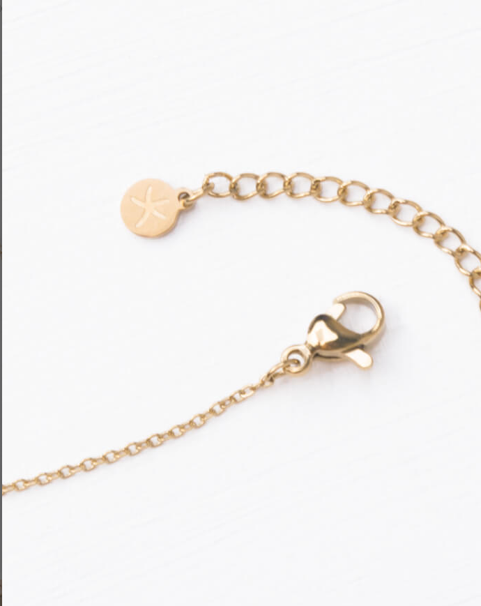 Gold Heart Pendant Ling Necklace, Give freedom & create careers for exploited women!