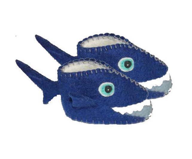 Handcrafted Shark Baby Booties- Made in Kyrgyzstan- Fair trade