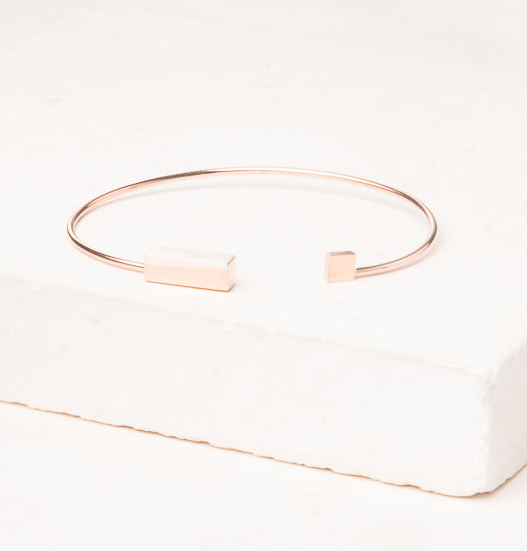 Rose Gold Bar Bracelet, Give freedom to exploited girls & women!