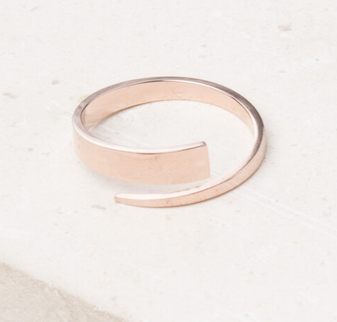 Rose Gold adjustable wrap ring, Give freedom to exploited girls & women!