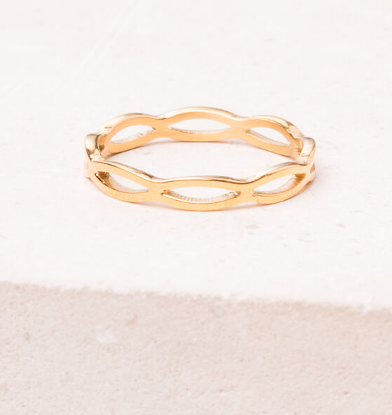 Gold adjustable loop ring, Give freedom to exploited girls & women!
