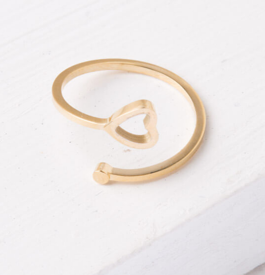 Gold or Silver Heart Ring, Give freedom to exploited girls & women!
