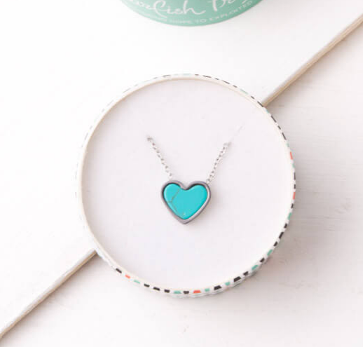 Turquoise Heart Necklace, Give freedom to girls & women!