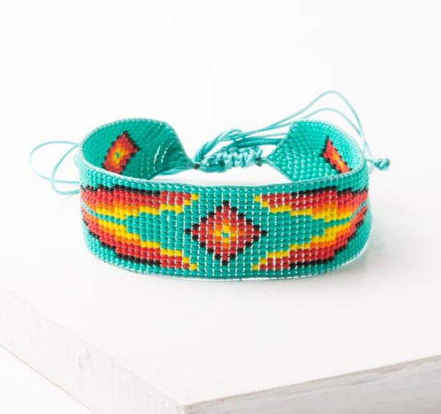 Turquoise Beaded Hair Band or Bracelet, Give freedom to exploited girls & women!