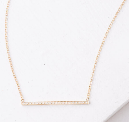 Gold Bar Necklace, Give freedom to exploited girls & women!