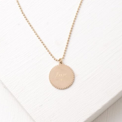 Gold Love Heart Necklace - Give freedom & create careers for exploited women!