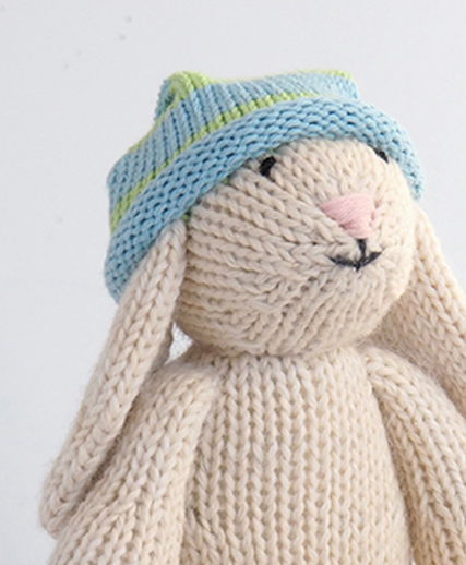 Hand Knit Bunny Stuffed animal, Fair Trade for Artisans