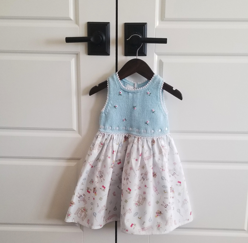 Handmade Baby Easter Dress With Bunnies, Fair Trade