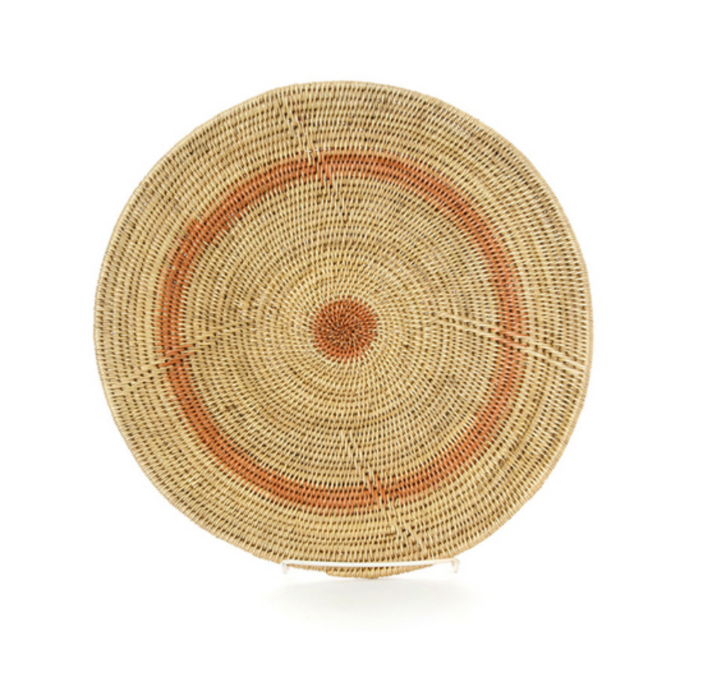 Peach Ring Hand Woven Wedding Baskets from Zambia, Fair Trade