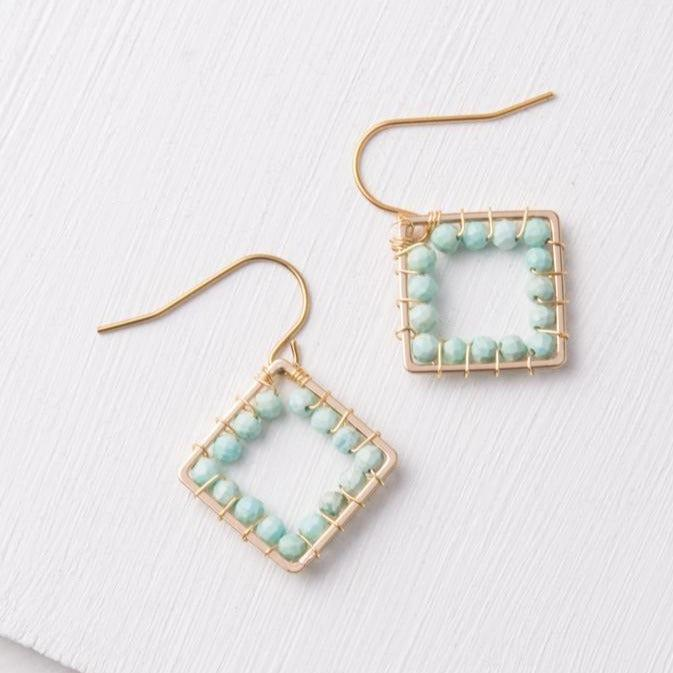 Gold & Turquoise Howlite Bead Earrings- Give Freedom To Girls & Women!