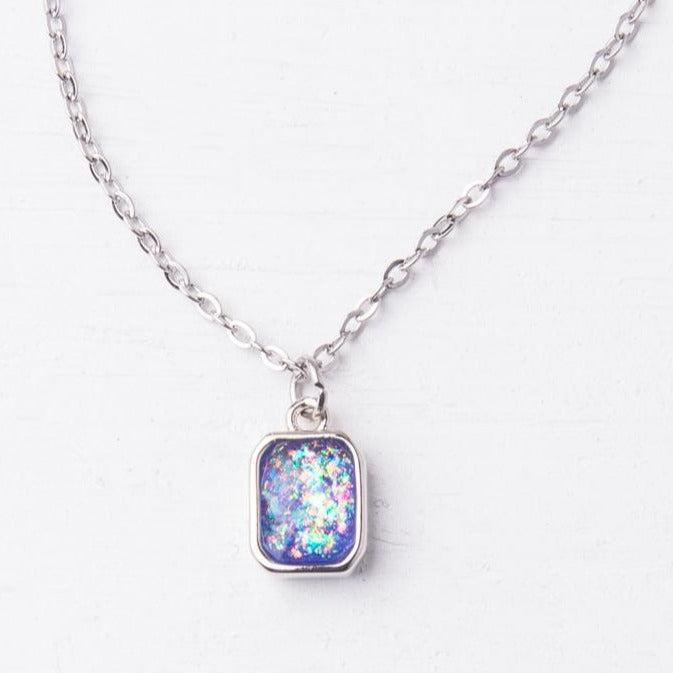 Lavender Opal & Silver Necklace- Give Freedom To Women
