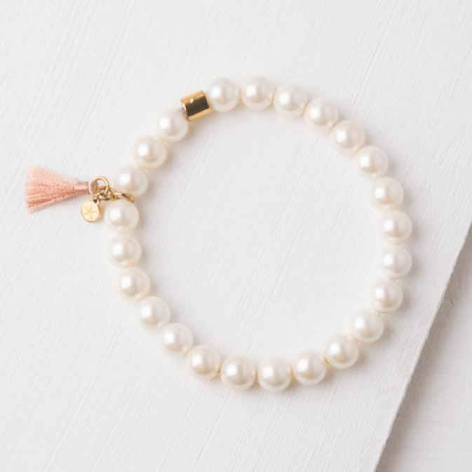 Ivory Pearl Bracelet- Give Freedom To Women & Girls!