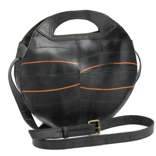 Recycled Rubber Tire Round Shoulder Bag