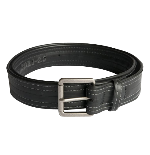 Upcycled Men's Belt - Vegan- Made in the USA from Bike Tubes - Saves Landfill Space!