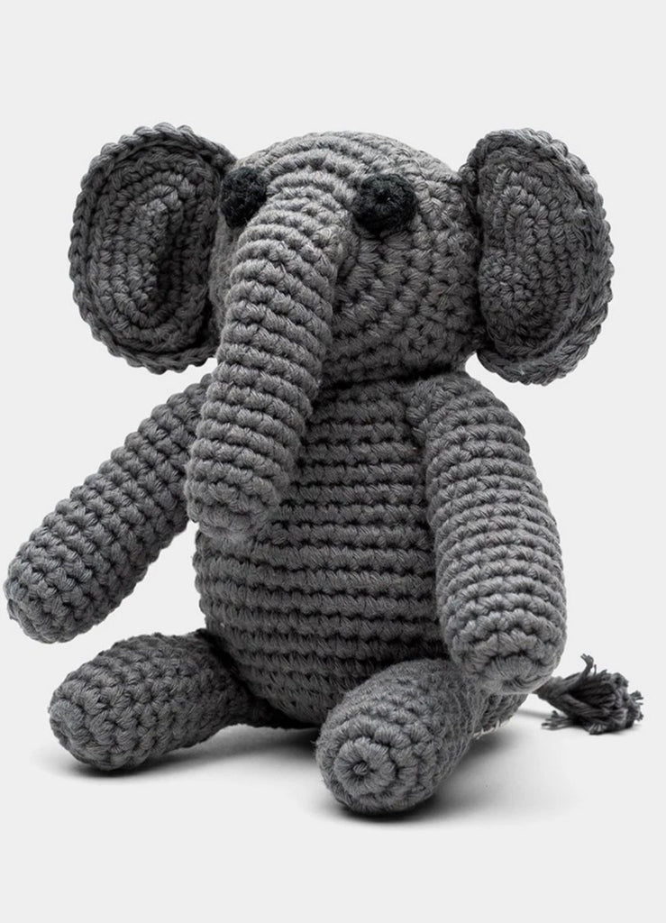 Hand Crocheted Elephant Stuffed Animal, Fair Trade