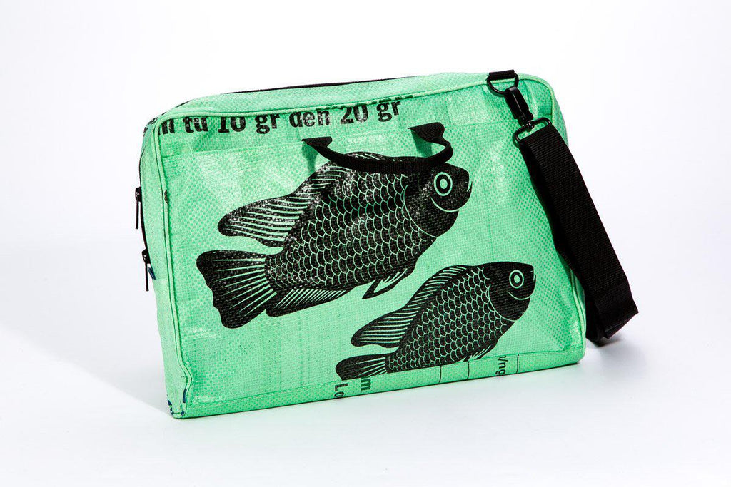 Large Repurposed  Messenger Bag (choose your Pattern)- Saves Landfill Spaces!