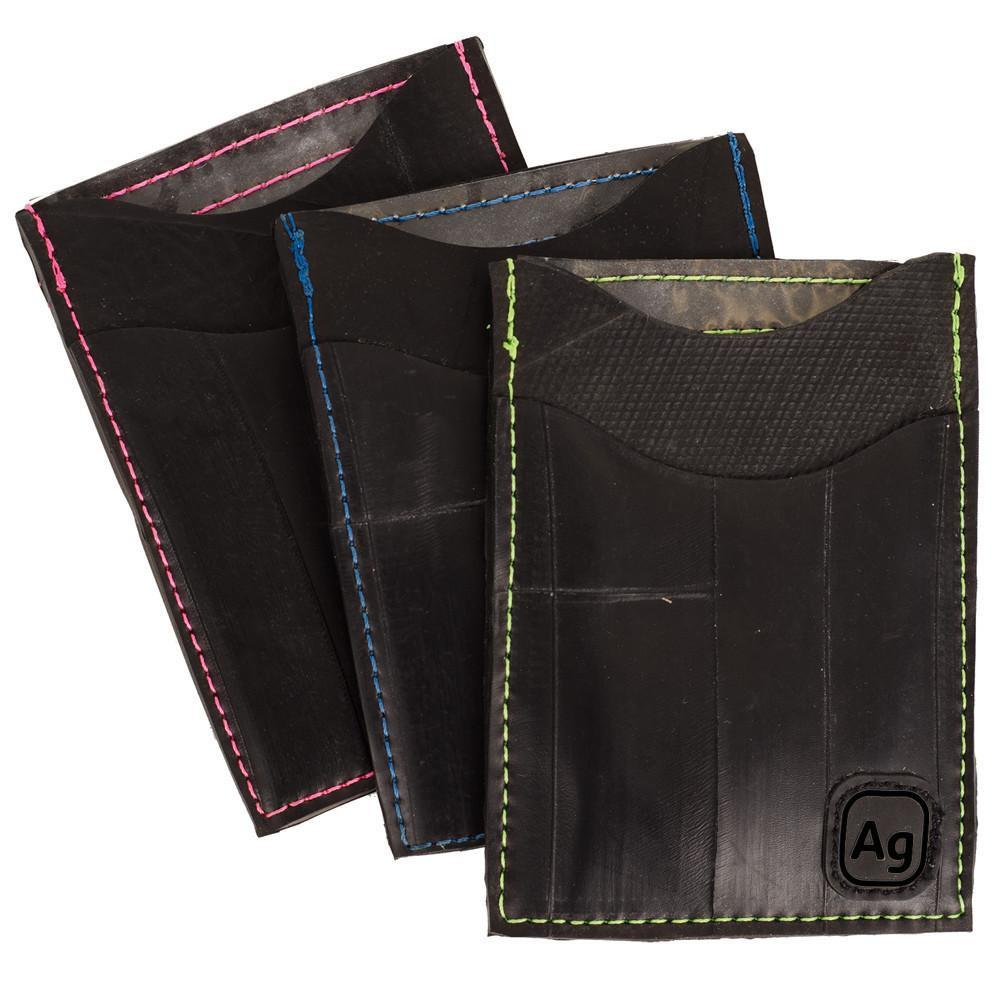 Night Owl Wallet - upcycled truck tube - Made in the USA - Saves Landfill Space!