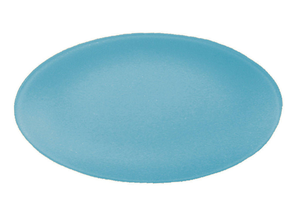 "Recycled Glass- 12"" x 19"" Oval SeaGlass Platter- Eco Friendly - Give Back Goods"