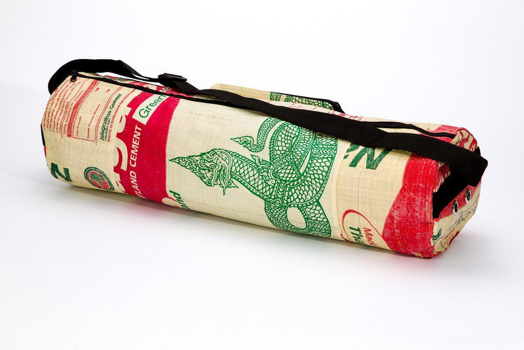 Upcycled Yoga Mat Bag, saves landfill space