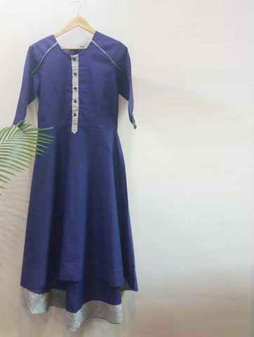 Blue high low long dress