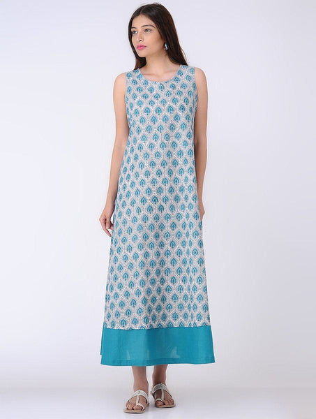 Breezy A- line dress Dress The Neem Tree Sonal Kabra Buy Shop online premium luxury fashion clothing natural fabrics sustainable organic hand made handcrafted artisans craftsmen