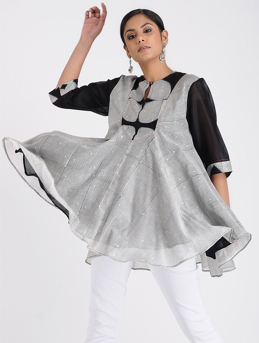 Breezy Shibori top Top Sonal Kabra Sonal Kabra Buy Shop online premium luxury fashion clothing natural fabrics sustainable organic hand made handcrafted artisans craftsmen