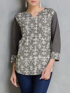 Dabu shirt Shirt The Neem Tree Sonal Kabra Buy Shop online premium luxury fashion clothing natural fabrics sustainable organic hand made handcrafted artisans craftsmen