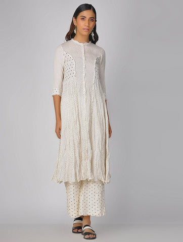 Delicate kali dress Jacket dress Sonal Kabra Sonal Kabra Buy Shop online premium luxury fashion clothing natural fabrics sustainable organic hand made handcrafted artisans craftsmen