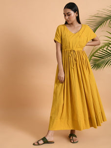 Double Pocket Maxi Dress Dress The Neem Tree Sonal Kabra Buy Shop online premium luxury fashion clothing natural fabrics sustainable organic hand made handcrafted artisans craftsmen