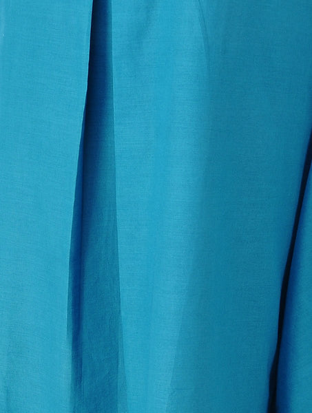 Drape dress - Blue Dress The Neem Tree Sonal Kabra Buy Shop online premium luxury fashion clothing natural fabrics sustainable organic hand made handcrafted artisans craftsmen