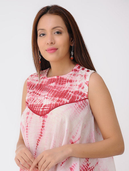 Drape top - Red Top Sonal Kabra Sonal Kabra Buy Shop online premium luxury fashion clothing natural fabrics sustainable organic hand made handcrafted artisans craftsmen