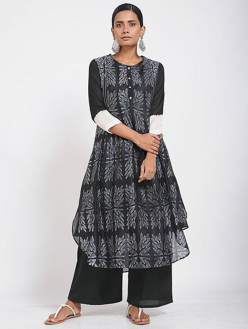 Floral high-low kurta (Set of 2) Kurta Sonal Kabra Sonal Kabra Buy Shop online premium luxury fashion clothing natural fabrics sustainable organic hand made handcrafted artisans craftsmen