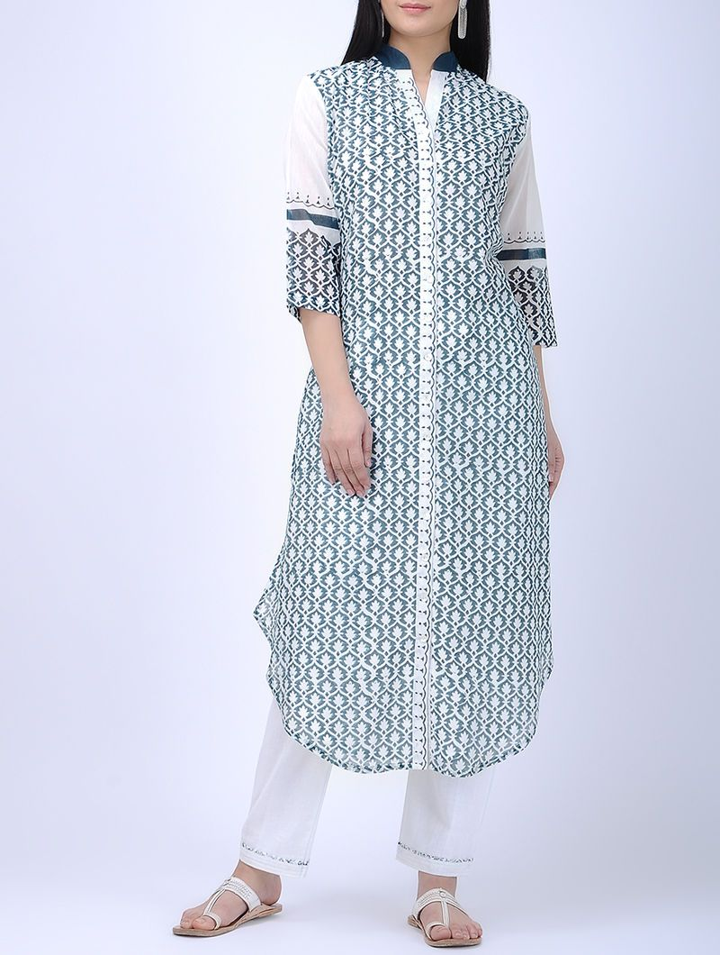 Front open kurta Kurta Sonal Kabra Sonal Kabra Buy Shop online premium luxury fashion clothing natural fabrics sustainable organic hand made handcrafted artisans craftsmen