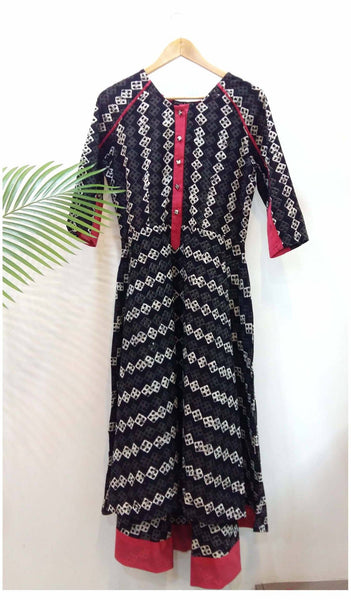 High low long dress Dress The Neem Tree Sonal Kabra Buy Shop online premium luxury fashion clothing natural fabrics sustainable organic hand made handcrafted artisans craftsmen
