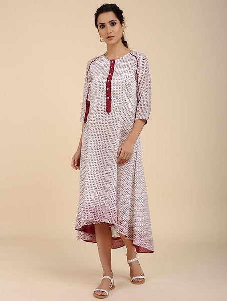 High low long dress Kurta Sonal Kabra Sonal Kabra Buy Shop online premium luxury fashion clothing natural fabrics sustainable organic hand made handcrafted artisans craftsmen