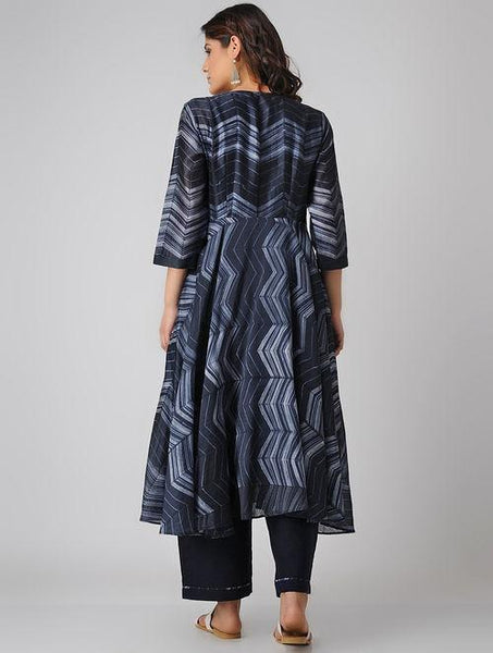 Indigo love (Set of 2) Dress Sonal Kabra Sonal Kabra Buy Shop online premium luxury fashion clothing natural fabrics sustainable organic hand made handcrafted artisans craftsmen