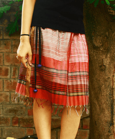 Little green skirt Skirt Sonal Kabra Sonal Kabra Buy Shop online premium luxury fashion clothing natural fabrics sustainable organic hand made handcrafted artisans craftsmen