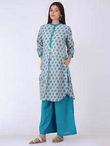 Lotus kurta Kurta The Neem Tree Sonal Kabra Buy Shop online premium luxury fashion clothing natural fabrics sustainable organic hand made handcrafted artisans craftsmen
