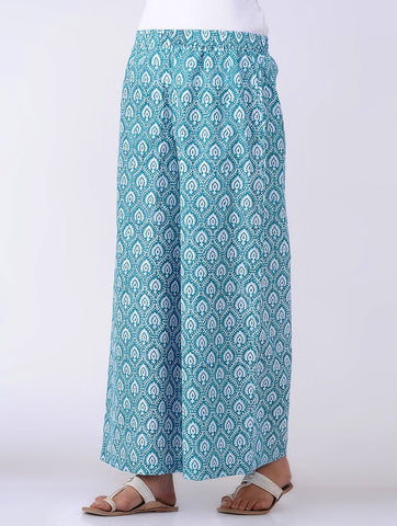 Lotus print palazzo Palazzo The Neem Tree Sonal Kabra Buy Shop online premium luxury fashion clothing natural fabrics sustainable organic hand made handcrafted artisans craftsmen