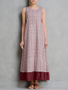 Maroon dress Dress The Neem Tree Sonal Kabra Buy Shop online premium luxury fashion clothing natural fabrics sustainable organic hand made handcrafted artisans craftsmen