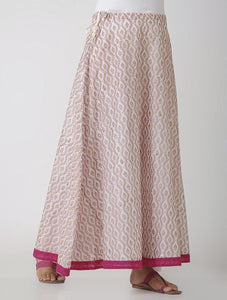 Pink and gold skirt Skirt The Neem Tree Sonal Kabra Buy Shop online premium luxury fashion clothing natural fabrics sustainable organic hand made handcrafted artisans craftsmen