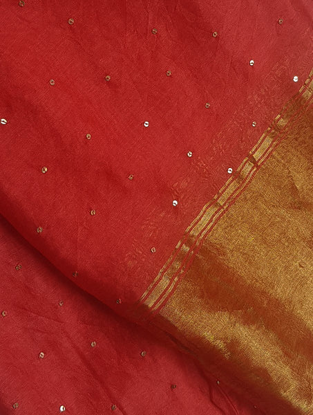 Pink Sequenced Dupatta Dupatta & Stoles Sonal Kabra Sonal Kabra Buy Shop online premium luxury fashion clothing natural fabrics sustainable organic hand made handcrafted artisans craftsmen
