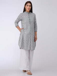 Polka kurta Kurta The Neem Tree Sonal Kabra Buy Shop online premium luxury fashion clothing natural fabrics sustainable organic hand made handcrafted artisans craftsmen
