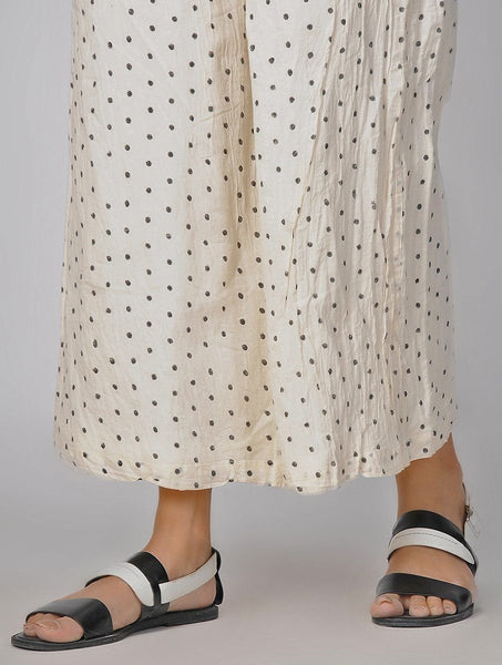Polka palazzo Palazzo The Neem Tree Sonal Kabra Buy Shop online premium luxury fashion clothing natural fabrics sustainable organic hand made handcrafted artisans craftsmen